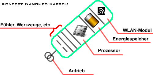 Das Konzept der NANOMED-Kapseln