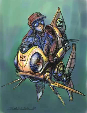 steampunk: fish-rider